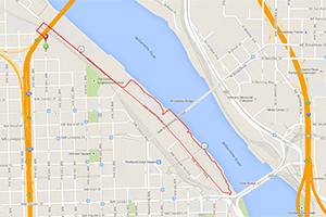 Portland workouts: Hyatt Training Broadway Bridge stairs run