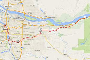 Hyatt Training Multnomah Falls bike ride