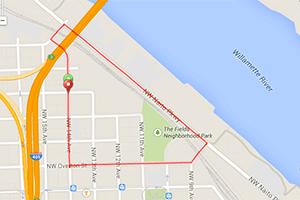 Portland Workouts: Hyatt Training one-mile run loop