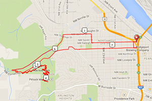 Portland Workouts: Hyatt Training Pittock mansion run