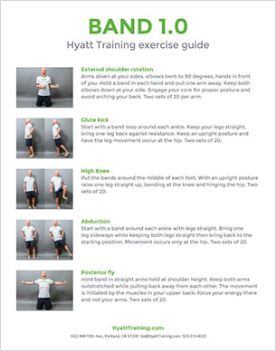 Hyatt Training exercise guide band 1.0