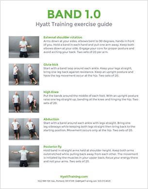 Hyatt Training exercise guide band 1.0