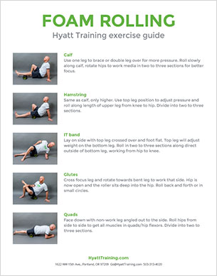 Hyatt Training exercise guide foam rolling