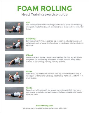 Hyatt Training exercise guide foam rolling