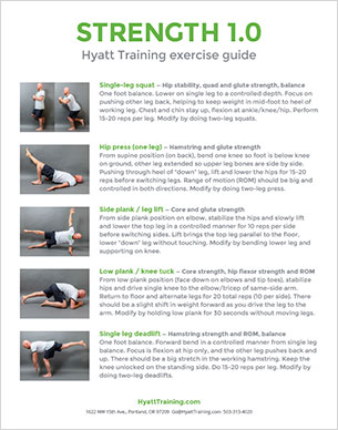 Hyatt Training exercise guide strength 1.0