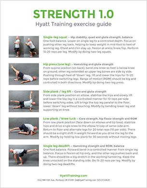 Hyatt Training exercise guide strength 1.0
