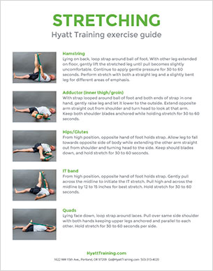 Hyatt Training exercise guide stretching