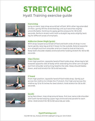 Hyatt Training exercise guide stretching