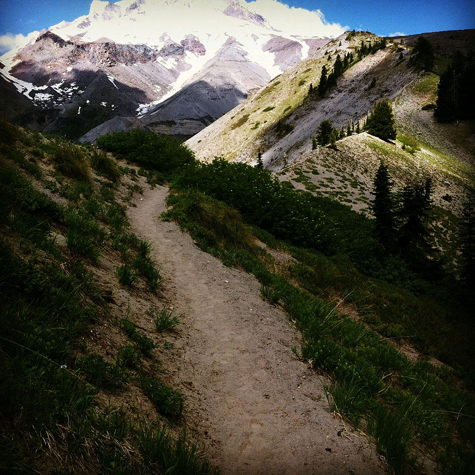 Day hikes at Mount Timberline Trail zig zag canyon