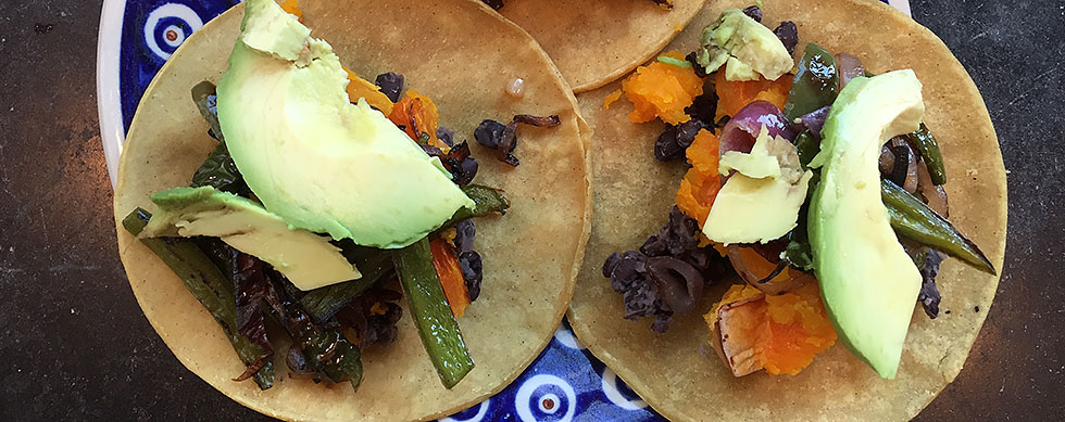 Hyatt Training eats Squash and black bean taco recipe