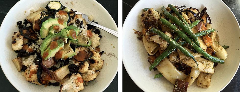Hyatt family eats roasted veggies challenge