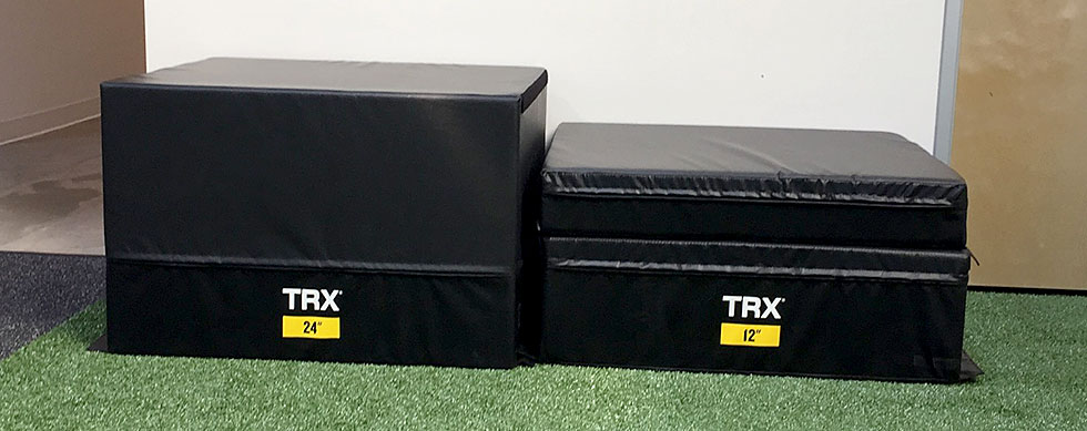 Hyatt Training new equipment: four stacking soft plyo boxes