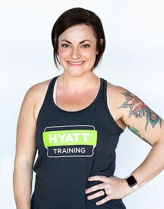 Hyatt Training personal trainer intern Elana Witt