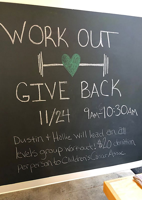 Hyatt Training work out give back event