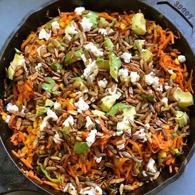 Hyatt Training healthy recipes: sweet potato chipotle black bean salad