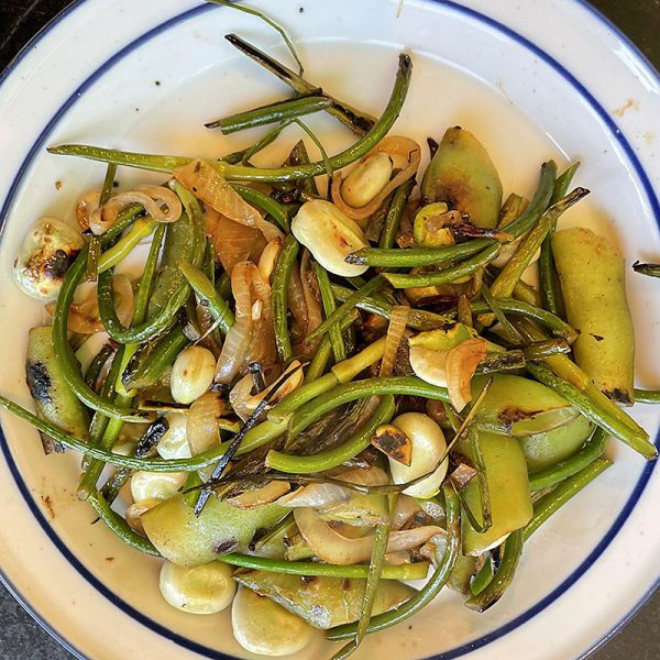 Hyatt Training summer recipes fava bean garlic scapes
